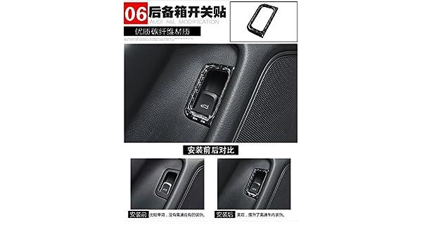 Adhesivo de fibra de carbono para marco de decoración interior de Audi A6 A7 S6 S7 C7 Series Typ 4G 2012-2018: Amazon.es: Coche y moto