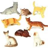 """Assorted Plastic 2"""" Cat Figure Toys (12)"""