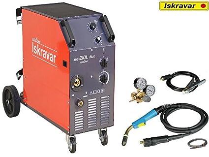Iskra Mig Mag Flux 210 L Ecoline Protección Gas Soldador Gas schw Hielo sgerät: Amazon.es: Industria, empresas y ciencia