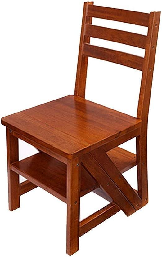 Kitchen stool Taburetes Escalera Silla Plegable Silla De La Escalera Taburete De Madera Maciza con Escalones Silla De Escalera De Casa Silla con Escalera Taburete De Madera con Taburete De Escalera: Amazon.es: