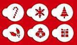 Designer Stencils C073 Holiday Cupcake and Cookie Stencil Tops, Beige/semi-transparent