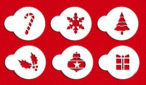 Stencil Decorating (Designer Stencils C073 Holiday Cupcake and Cookie Stencil Tops, Beige/semi-transparent)