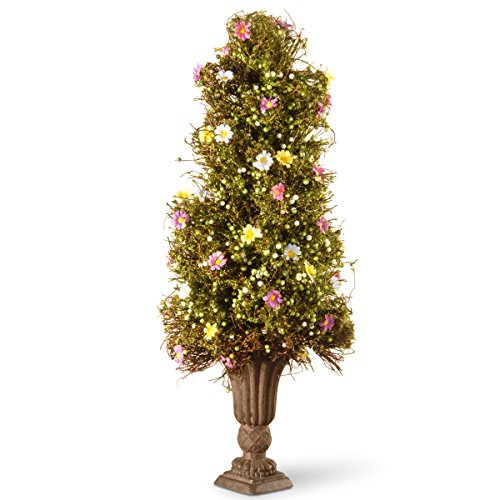 - National Tree 24 Inch Spring Flower Tree with Mixed Flowers, Berries and Decorative Urn Base (RAS-TR030129A)