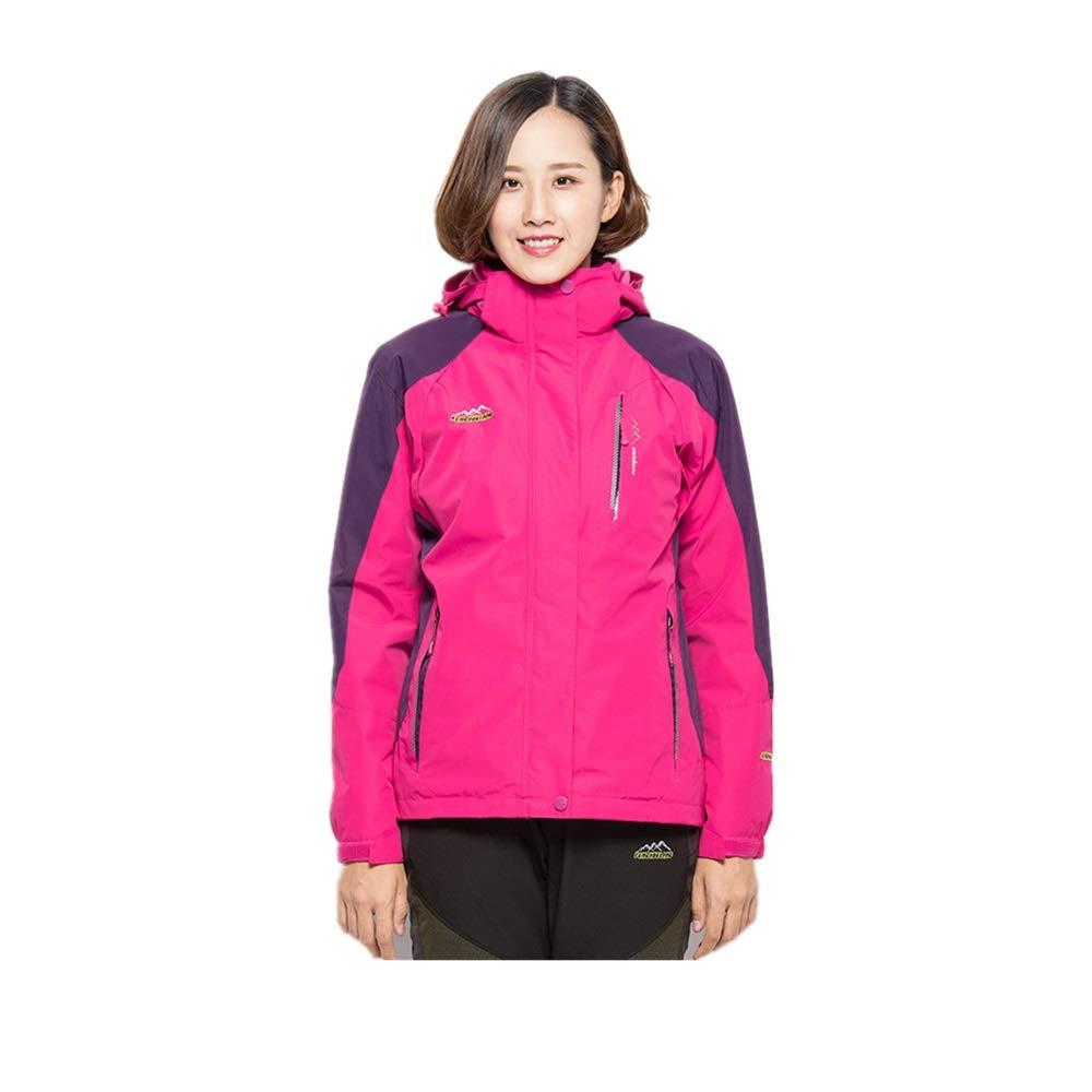 Wasserdichte Bergjacke für Herren Outdoorjacke Wasserdichte Jacke Mountain Wear Für Frauen Winddicht Liebhaber Anzug (Farbe   Rosa, Größe   XL)