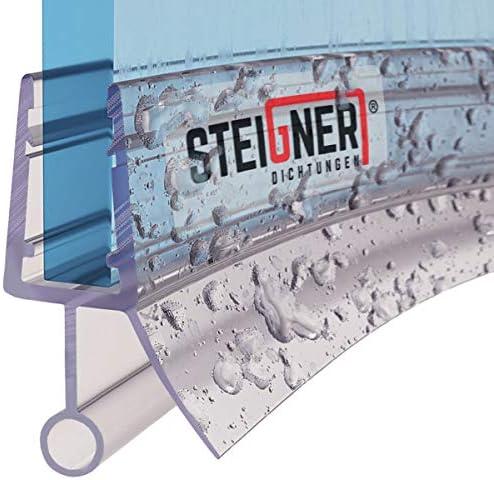 STEIGNER Duschdichtung, 30cm, Glasstärke 6/7/ 8 mm, Vorgebogene PVC Ersatzdichtung für Runddusche, UK08
