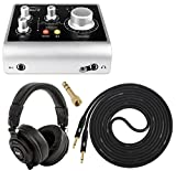 "Audient iD4 High-Performance USB Audio Interface w/ Professional Studio Monitor & Mixing Headphones w/ LyxPro 6 feet ¼"" TS Instrument Cable for Singer's, Songwriter's and Guitar Players"