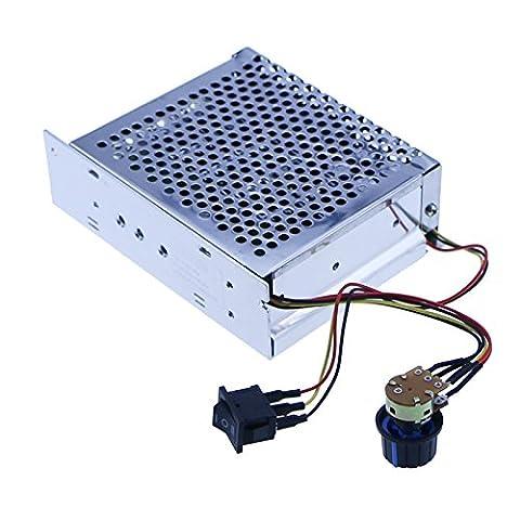 12V 24V 36V 48V 60A Stepless DC Motor Speed Controller Forward Reverse Controller Digital Display Governor Switch Metal Shell - 36 Volt Motor