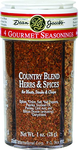 Dean Jacob's 4 Gourmet Seasonings ~ 4in1 Compartment Jar (Meat Pizza)