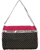 Girls Duffel Bag with Metallic Silver & Sequin Choose Color