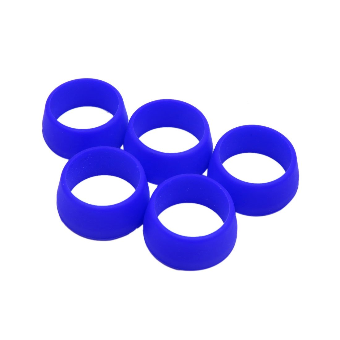 uxcell® 5Pcs 25-30mm Waterproof Silicone Ring Bike Bicycle Seat Post Dust Cover Blue