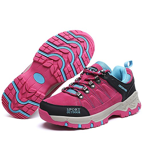 Pink Outdoor Sneakers EZUOGO Women's US Casual Hiking Sneakers Shoes 8 Climbing Moutain 5 U1FHx7Bw