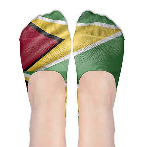 - Guyana Flag Cute Womens Non Slip Boat Ankle Short Low Cut No Show Thin Socks For Yoga Train Hiking Cycling Running Sports Soccer