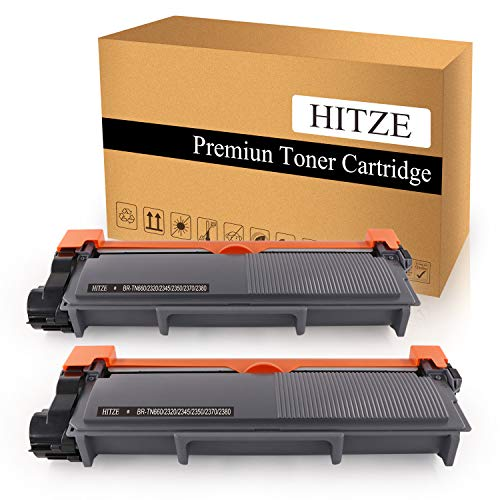 HITZE Compatible Toner Cartridge Replacement for Brother TN-660 TN-630 for Brother HL-2380DW DCP-L2540DW HL-L2305W HL-L2300D (Black, 2 Pack, High Yield)