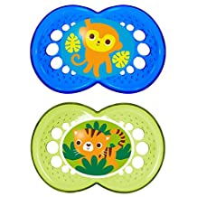 MAM Silicone Crystal Pacifier, Boy, 6 Plus Months, 2-Count, (For Boy)