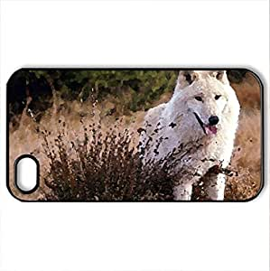 Arctic Beauty - Case Cover for iPhone 4 and 4s (Dogs Series, Watercolor style, Black)