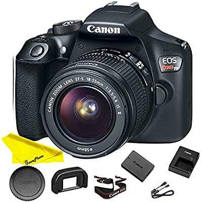 Canon EOS Rebel T6 DSLR Camera with 18-55mm Lens + Buzz Novice Bundle Kit