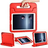 CAM-ULATA Compatible with New iPad 9.7 Case 2018/2017 Model for iPad Air 1 Air 2 Cover EVA with Handle for Kids Boys Girls Lightweight Red