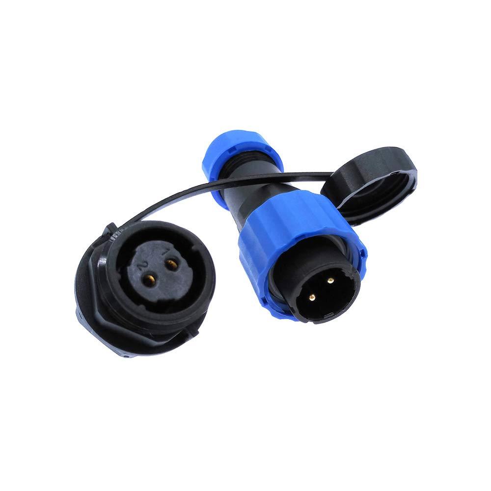 Connecteur /étanch/éit/é SP16 IP68 connecteur fiche fiche fiche m/âle et femelle 2 3 4 5 6 7 9 broches
