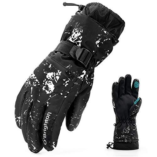 O'Brighton Ski Gloves for Men Women (L) (Best Ski Gloves Under 50)