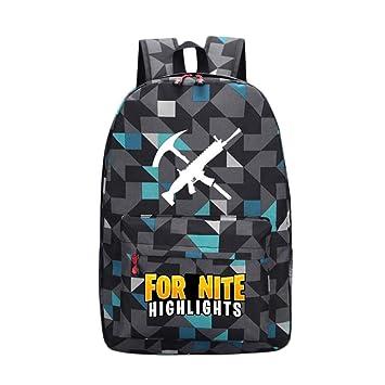 2019 Battle Royale Backpack Rucksack School Bag GLOW IN DARK Pencil CASE Bag