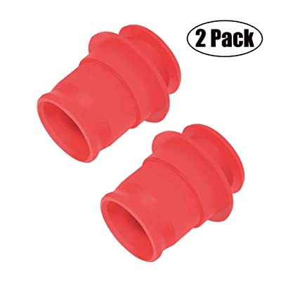 ZHSMS Universal Cigarette Lighter Cover Cap waterproof Dustproof Cover for Auto Car Cigarette Lighter Socket Plug Cover Dust Cap Car Accessory 2Pack(Red): Automotive