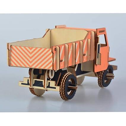 Healifty Coche 3d Puzzle Madera Camión De Modelos Rompecabezas OZiXPTku