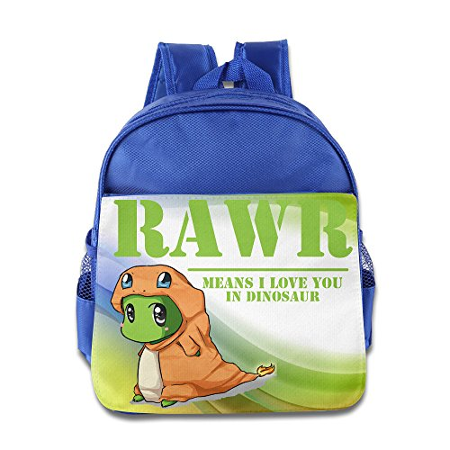 [KIDDOS Infant Toddler Kids RAWR Means I Love You In Dinosaur Backpack Bag, RoyalBlue] (Blues Clues Costumes Toddler)
