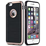 iphone 4 case incipio edge - iPhone 6 Plus / 6S Plus Case, [Dual Layer: Thin Armor TPU Interior Silicone + Heavy Duty Solid PC Back] Scratch Resistant Brushed Surface