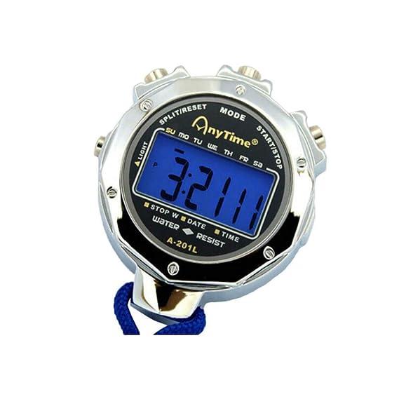 Qiaoxianpo01 Cronómetro, cronómetro Deportivo de Metal ...