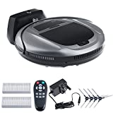 Vinteky Robotic Vacuum Cleaner Remote-Controlled, Floor Carpet Cleaner Automatic & Intelligent Self-Charging Efficient Double Filtration For Hard Floors Dust & Animal Hairs (Silver Grey)