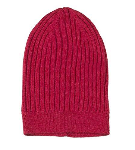 Baby Alpaca Beanie Hat (100% Baby Alpaca - Made in Peru - Unisex Ribbed Knit Wool Skull Cap Chullo Hat Beanie (RED))