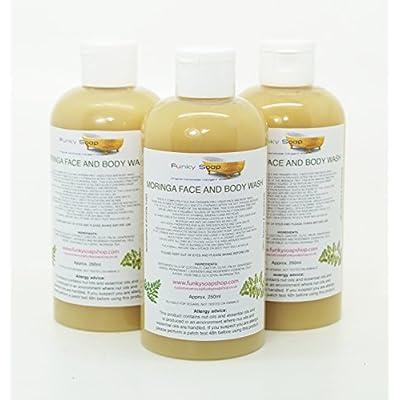 1 bouteille Liquide Moringa visage et corps Lavage 100% Naturel sans laureth sulfate de sodium 250ml