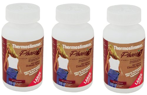 Three Packs of Thermoslimmer Phase 2 Supplement Large Supply by PHASE 2