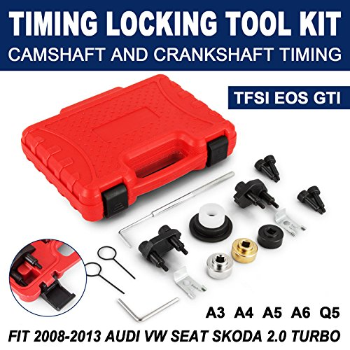 Mophorn Turbo Timing Locking Tool Kit Fit for 2008-2013 Audi VW 2.0 Turbo Timing Locking Tool Kit Camshaft Alignment Seat 2.0 Turbo Timing Locking Tool Set -