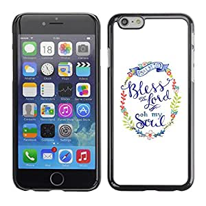 Design for Girls Plastic Cover Case FOR Apple Iphone 6 Plus 5.5 Lord God Christ Christian Religion White Wreath OBBA