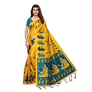 Anni Designer Magenta Khadi Silk Printed Sarees For Women With Blouse Piece