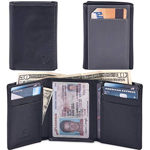 (COCHOA Men's Trifold Wallet Billfold With ID Window RFID Blocking Box 4