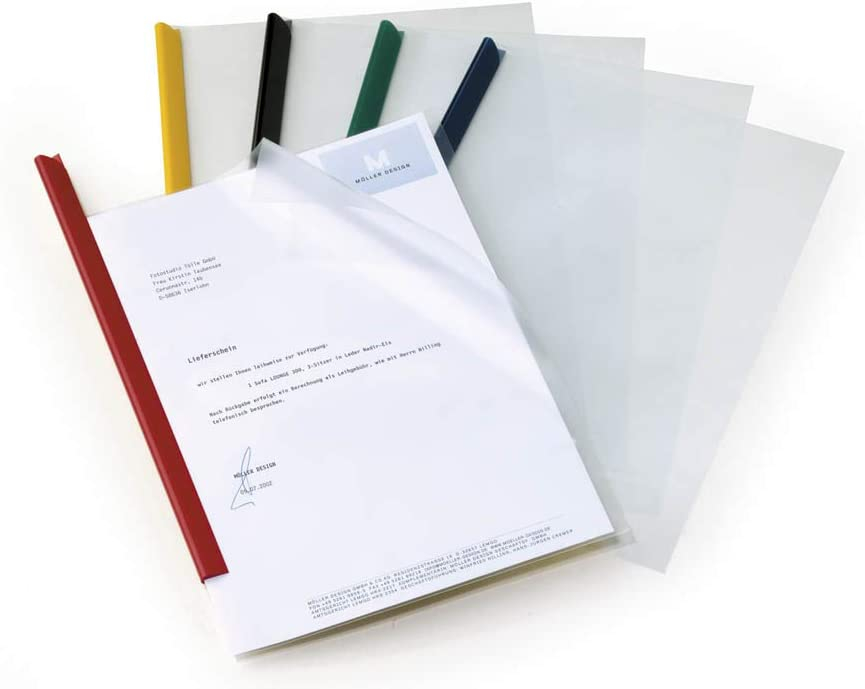 Clear Pack of 50 Durable 293919 Polypropylene Report Covers