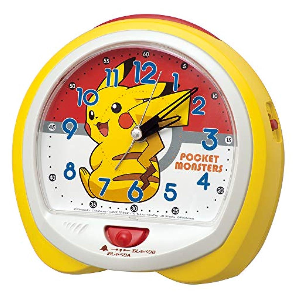 [해외] 세이코 clock 탁상시계 04:피카츄옐로우 본체 사이즈:13.0×14.0×9.6CM 포켓 몬스터 피카츄 아날로그 교환식 CQ421Y