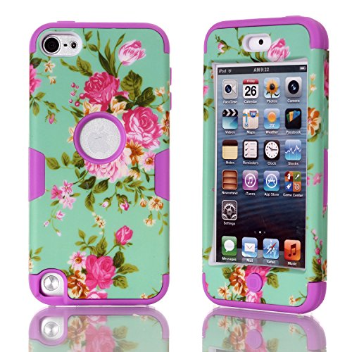 iPod Touch 5 Case, iPod Touch 6 Case Betty Printed Design 3in1 [Full-body Shockproof] Hard PC+ Silicone Hybrid