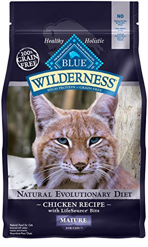 BLUE Wilderness Mature Grain Free Chicken  Dry Cat Food 5-lb