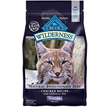 Blue Buffalo Cat Mature Chicken Formula-Grain Free Dry Cat Food, 2 lb Bag