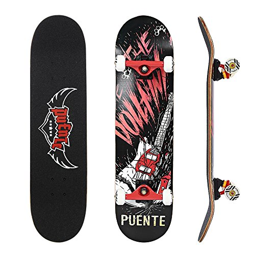 NACATIN Skateboard Deck, Adults Kids Skateboard,Complete Board with ABEC-9...