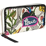 The SAK Artist Circle Large Wallet,White Peace Print,One Size, Bags Central
