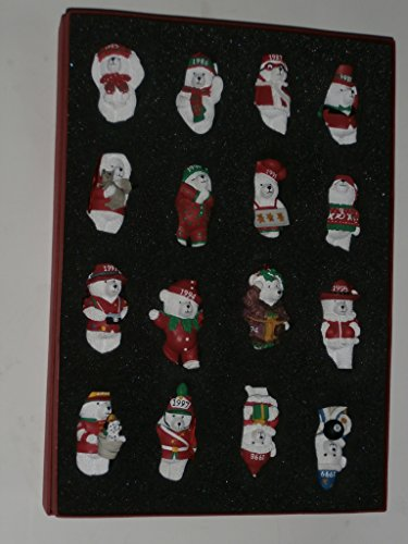 Santa Bears Fifteen Years Collectible Ornament - Boxed Set