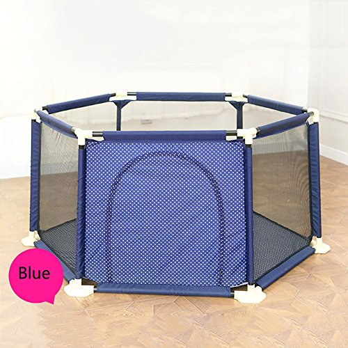 WSSF- Blue Plastic Tube Children Game Playpen Safety Fence 6 Side Panel Play Yard Indoor Outdoor Infant Baby Crawling Mat Learn Walking Toy Playground (Color : Style 2)