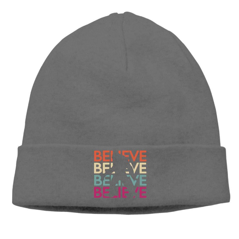 09/&JGJG Believe Bigfoot Men and Women Soft Beanie Hats Outdoor Newsboy Hat