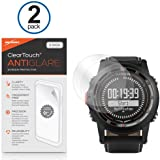 Garmin D2 Screen Protector, BoxWave® [ClearTouch Anti-Glare (2-Pack)] Anti-Fingerprint Matte Film Skin for Garmin D2