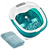 homedics foot soak - NEW! HoMedics 2-in-1 Wet or Dry Deep Soak Rolling Foot Bath Spa Massager with Heat Boost Power and Wash Cloth
