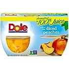 Dole Fruit Bowls, Diced Peaches in 100% Fruit Juice, 4 oz, 4 cups